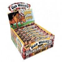 OOR WULLIE'S BRAW HIGHLAND TOFFEE CHEW BAR 10p